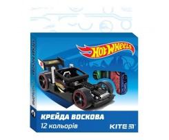 Крейда Kite Hot Wheels, воскова, 12 кольорів (HW19-070)