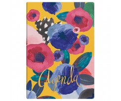 Щоденник Brunnen Агенда Flex Flowers 14.5x20.6 см 320 аркушів жовтий (73-796 38 941)