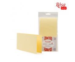 Набір заготовок для листівок ROSA TALENT 5 шт 105х210 мм №10 білий 220 г/м2 (94099120)