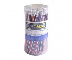 Набір із 5 олівців графітових НВ, асорті, з гумкою,блістер