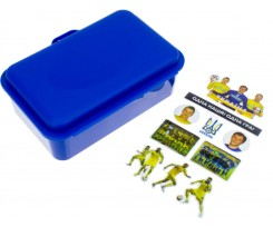 Ланч-бокс Economix Snack 16.8х11.1х6.5 см серія наліпок Футбол синій (E98374)