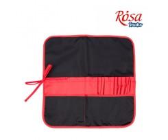 Пенал для пензлів  ROSA Studio 37х37см., тканина, чорний+червоний  (231102)
