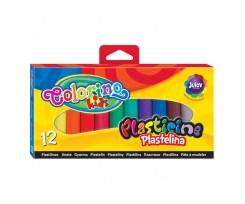 """Пластилін Colorino ''Стандартні кольори"""", 200 г, 12 кольорів (13291PTR/1)"""