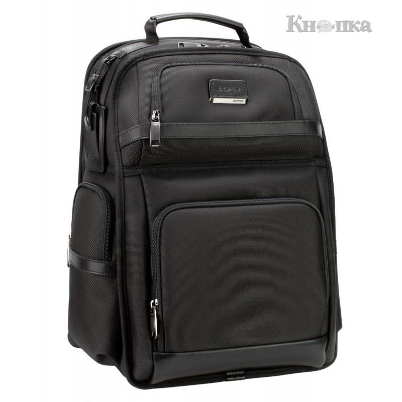 Рюкзак діловий Optima 44.5x32x22 см 26-35 л чорний (61-17111)