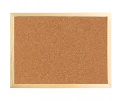 Дошка Axent коричнева коркова 60х90 см дерев'яна рамка (9602-a)
