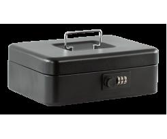 Скринька для грошей Buromax, 250x180x90мм, 25см, матова, чорна(BM.0401)