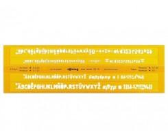 Буквений трафарет Rotring, 3.5-5 мм, жовтий, пластик (S0228181)
