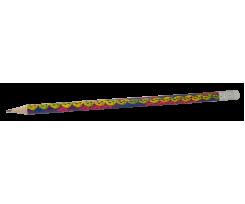 Набір чорнографітних олівців Zibi з гумкою 2 мм 5 штук (ZB.2305-5)