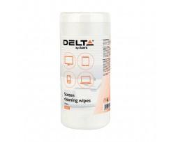 Серветки Delta для екранів вологі 100 штук (d5302)