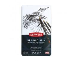 Набір з 12-ти олівців Derwent Graphic Soft 2 мм чорний (34215)