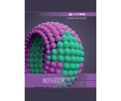 Зошит Buromax SPHERE, на пружині, А-4, 80 аркушів, клітинка, фіолетовий (BM.24452101-07)