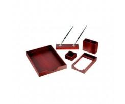 Набір настільний дерев'яний Bestar 5 предметів червоне дерево (5144FDU)