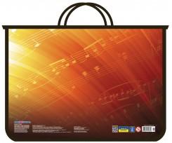 Портфель Cool For School Ноти А4 на блискавці червоний-чорний (CF31631-01)