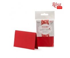 Набір заготовок для листівок ROSA TALENT 5 шт 103х70 мм №9 червоний 220 г/м2 (94099008)