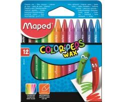 Крейда воскова Maped COLOR PEPS Wax Crayons, 12 кольорів,8мм(MP.861011)