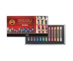 Крейда-пастель Koh-i-Noor Toison D'or 12 кольорів асорті (8512)