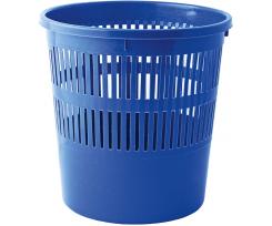 Корзина для паперів Buromax 8 л.,пластик ,кругла з прорізами, синя(BM.1920-02)