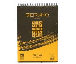Альбом для ескізів Fabriano Schizzi Sketch А3 100 аркушів 90 г/м2 (56629742)