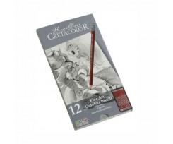 Набір з 12-ти олівців Cretacolor 2.8 мм чорний (90516052)