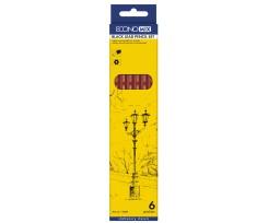 Набір олівців Economix 2.8 мм 6 штук чорний (E11303)