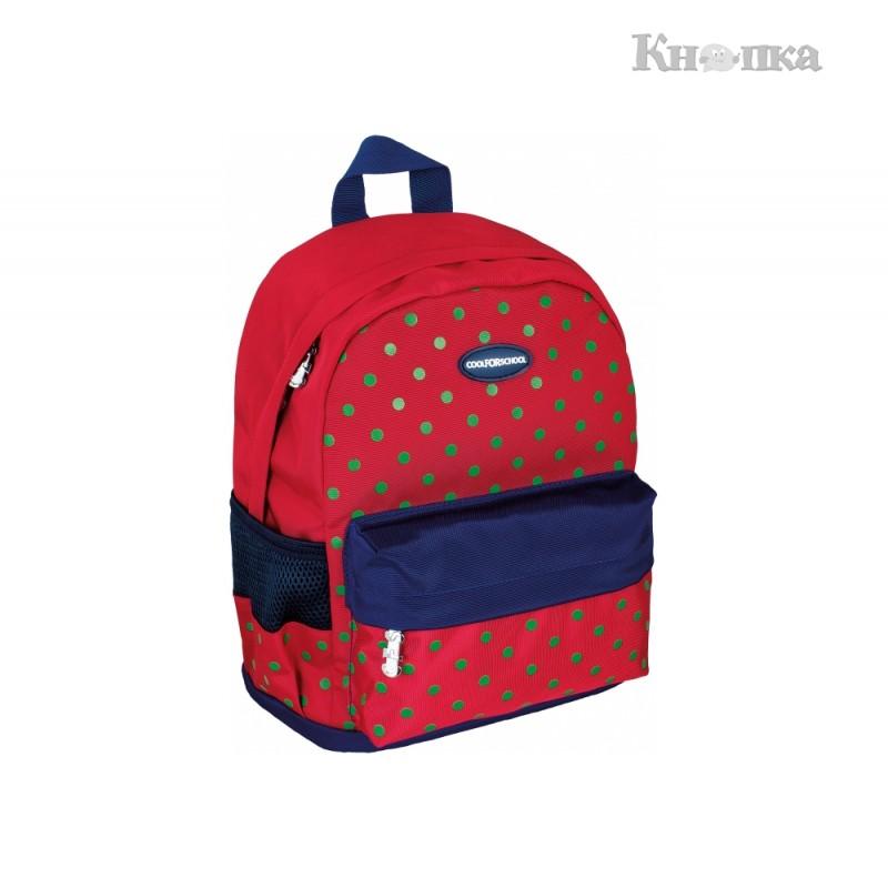 Рюкзак дошкільний Cool For School Peas Red 30х23х14 см 6-15 л червоний (CF86128)