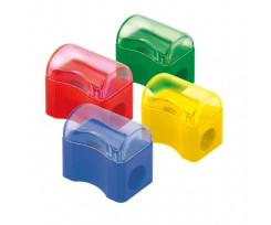 Точилка Delta Comfy з контейнером, пластикова, асорті (d9702)
