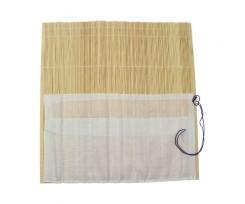 Пенал для пензлів D.K.ART & CRAFT 36х36см., бамбук, натур.колір+тканина (94160439)