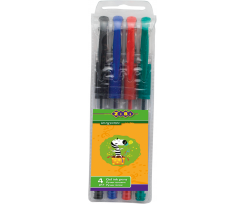 Набір гелевих ручок Zibi 07 мм 4 штуки асорті (ZB.2202-99)