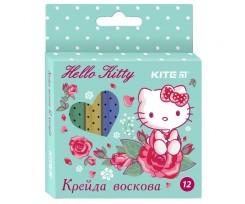 Крейда Kite Hello Kitty, воскова, 12 кольорів (HK19-070)