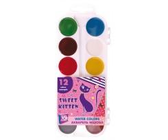 Акварель медова Cool For School Sweet Kitten, 12 кольорів, без пензлика, асорті (CF60139)