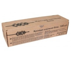 Крейда біла 100 шт., картонна коробка