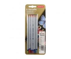 Набір кольорових олівців Derwent Coloured Metallic, 6 кол., (700259)