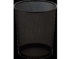 Корзина для паперів Buromax 15л., металева, кругла,чорна(BM.6270-01)