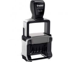 Датер Trodat Professional Line з вільним полем 41х24 мм шрифт 4 мм металевий чорний (5430 P 4.0)