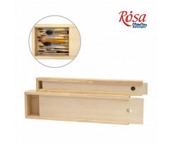Пенал для пензлів дерев'яний ROSA ПК2, 35*4,9*3см., (94160631)
