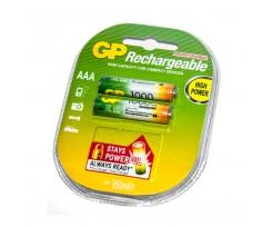Акумулятори  GP AAA NiMH R03 1000 mAh 2 шт. (*61176)
