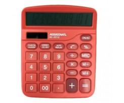Калькулятор Assistant 103х138 мм 12 розрядів червоний (AC-2312 red)