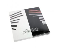 Набір матеріалів для графіки Cretacolor BLACK&WHITE в дерев'яній коробці 25 шт для эскізів (40025)