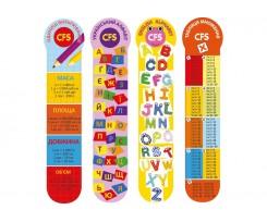 """Закладинки пластикові для книг Cool for school """"Education"""", асорті, 4 шт. (CF69105)"""
