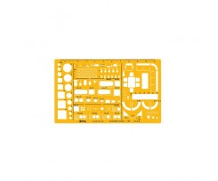 Архітекторський трафарет Rotring, 250х150 мм, пластик, жовтий (S0238711)