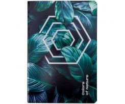 Блокнот Axent Colors of Nature А5 60 аркушів клітинка зелений (8453-04-A)