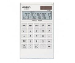 Калькулятор Assistant 183х107х15 мм 12 розрядів білий (AC-2326 (white))