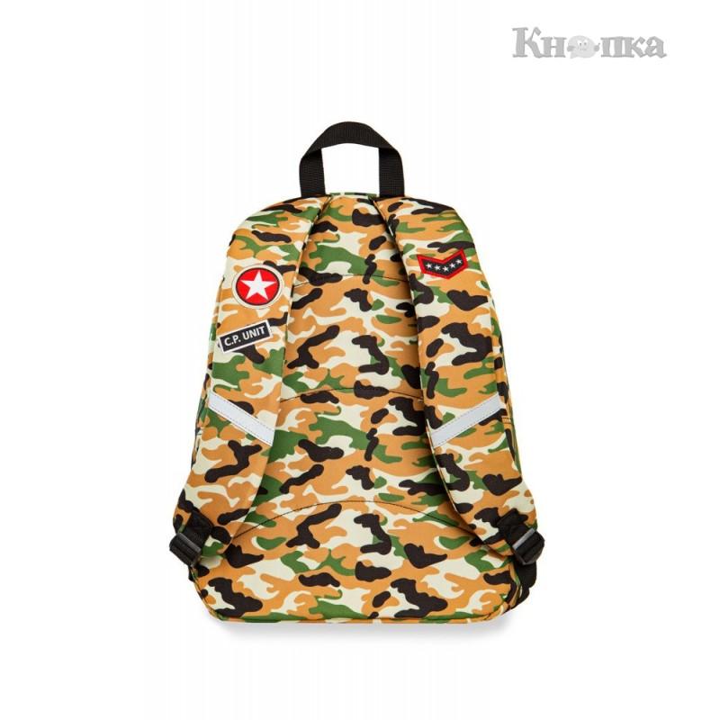 Молодіжний рюкзак COOLPACK CROSS BACKPACK CAMO DESERT (BADGES) 23л., жовтий камуфляж (A26109)