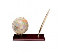Глобус Bestar на дерев'яній підставці 95 мм горіх (0910WDN)