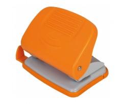 Діркопробивач  для паперу Economix, до 20 аркушів, пластиковий корпус, помаранчевий (E40134-06)