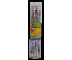Набір чорнографітних олівців Zibi з гумкою 2 мм 20 штук (ZB.2304-20)