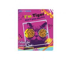 Папка Cool For School My Funny Tiger В5 на гумках рожевий (CF32042-02)
