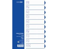 Роздільник аркушів Economix А4 10 розділів пластиковий кольоровий (E30803)
