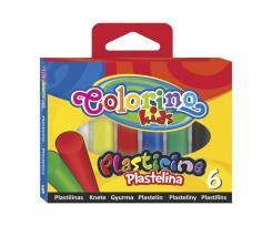 """Пластилін Colorino ''Стандартні кольори"""", 100 г, 6 кольорів (13871PTR/1)"""