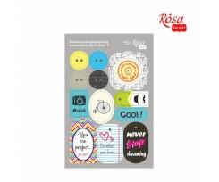 Висікання для скрапбукінгу ROSA TALENT самоклеючі Be in color 2 картон 128х200 мм